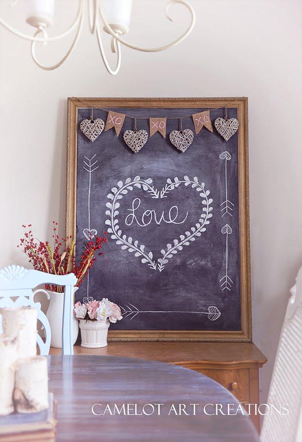 Valentine Chalkboard and Banner