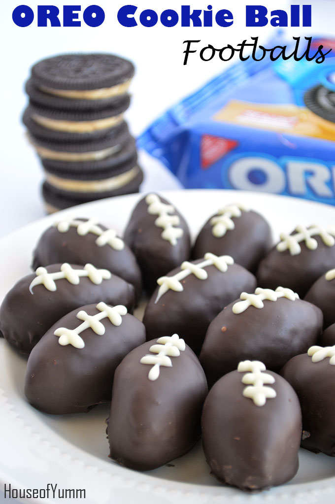 oreo cookie ball footballs - house of yumm