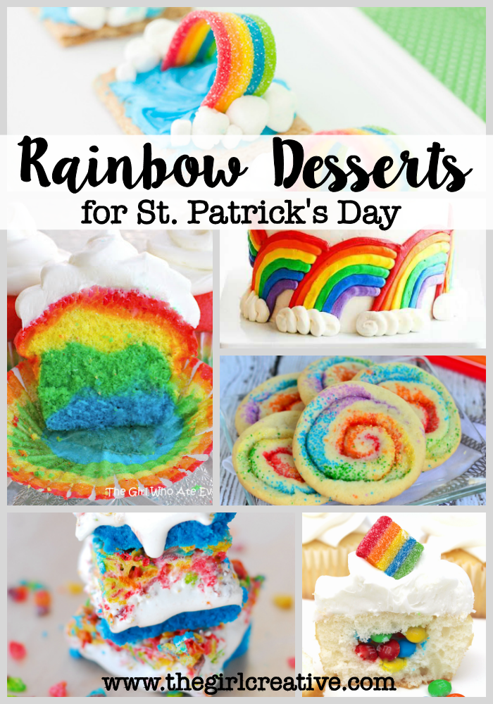 Rainbow Desserts for St. Patty's Day