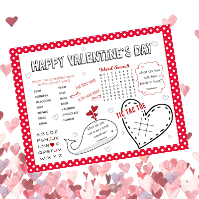 Free Printable Valentine's Day Activity Sheet