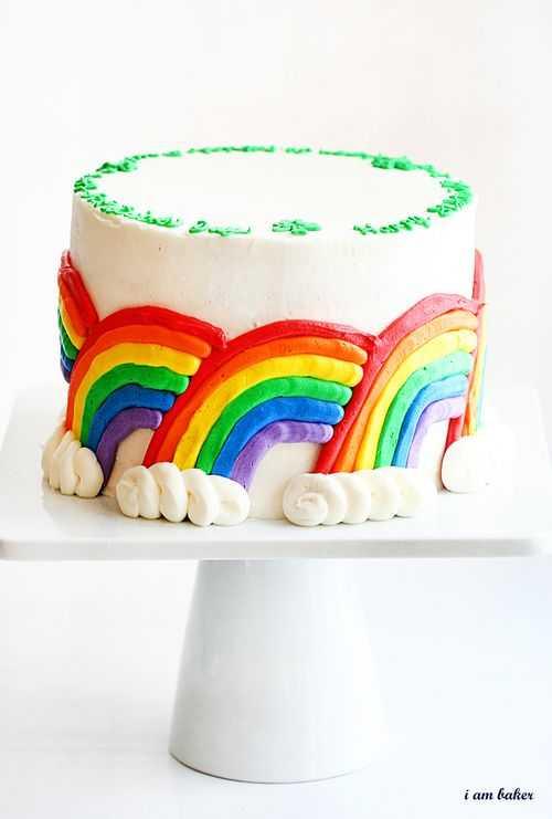 rainbow cake-i am baker