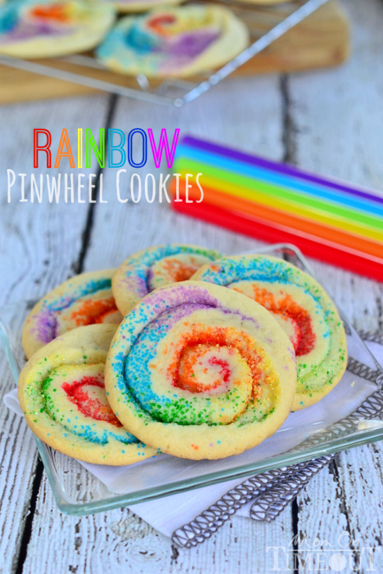 Rainbow Pinwheel Cookies // Mom on Time Out