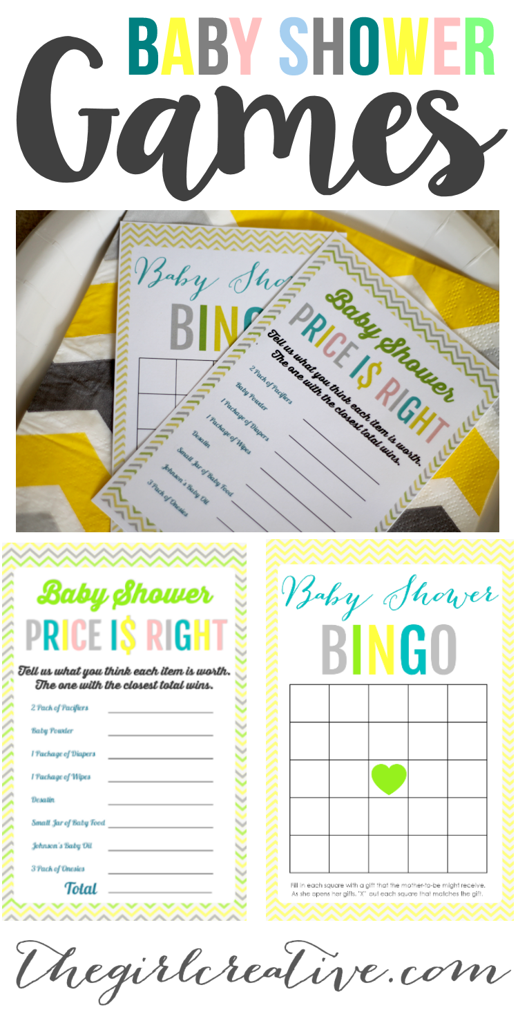 Free Printable Baby Shower Games - Download Baby Shower Price is Right , Baby Shower Bingo or BOTH!