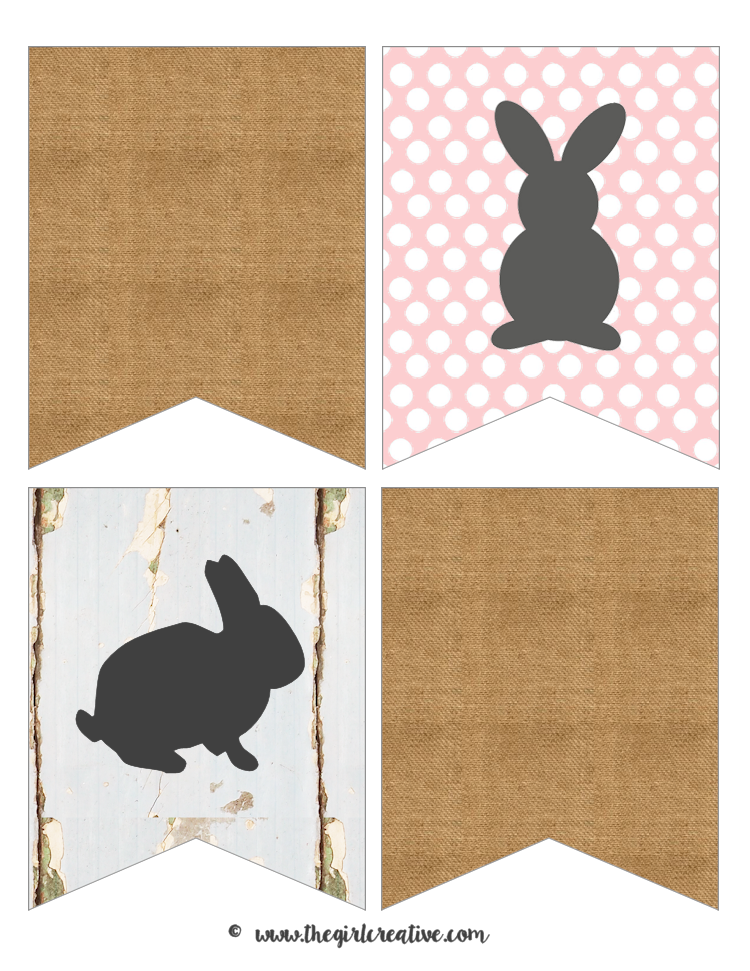 Printable Bunny Banner for Easter - The Girl Creative