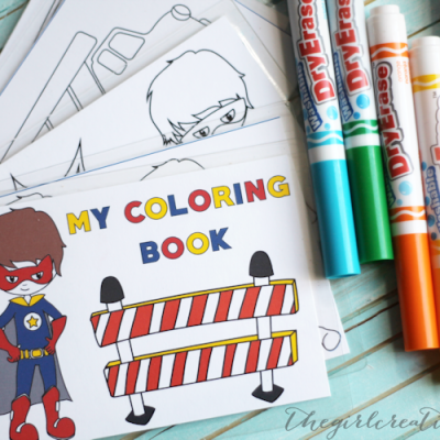 Dry Erase Coloring Book for Boys | Free Printable