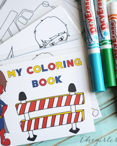 Dry Erase Coloring Book for Boys