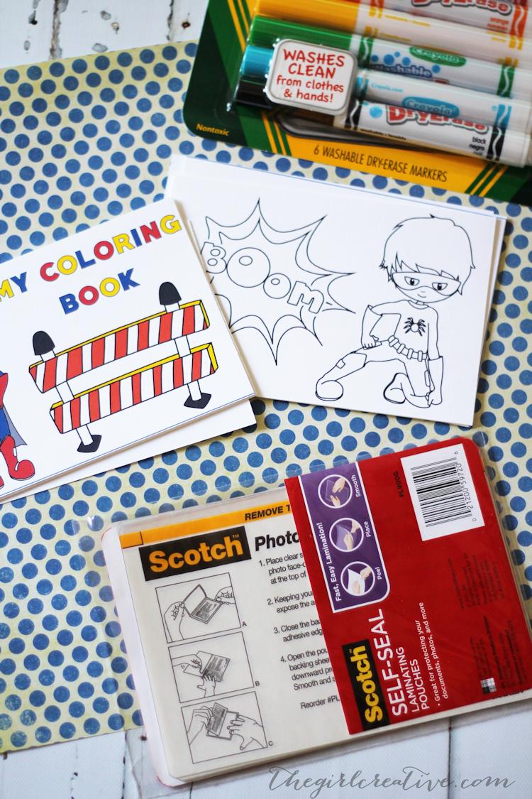 Dry Erase Coloring Book for Boys - Supplies1