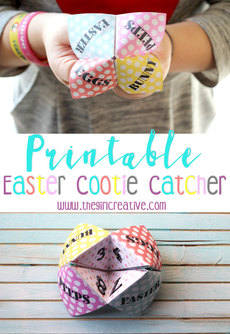 Easter Cootie Catcher-Download and print your free Easter Cootie Catcher for Easter fun with kids