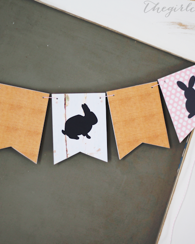 Printable Bunny Banner for Easter Decorating