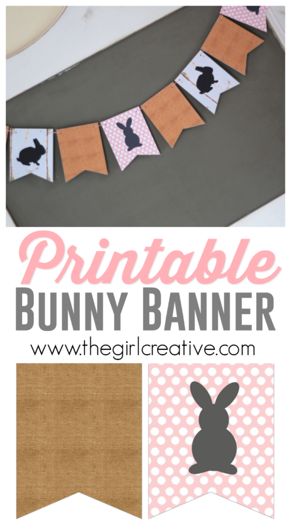 Printable Bunny Banner for your home or classroom | Printable Bunnies | Easter Banner