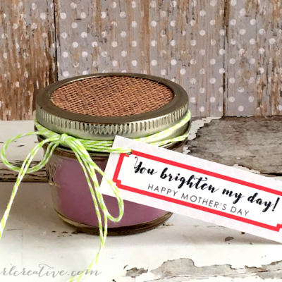 Homemade Mason Jar Candle Mother's Day Gift
