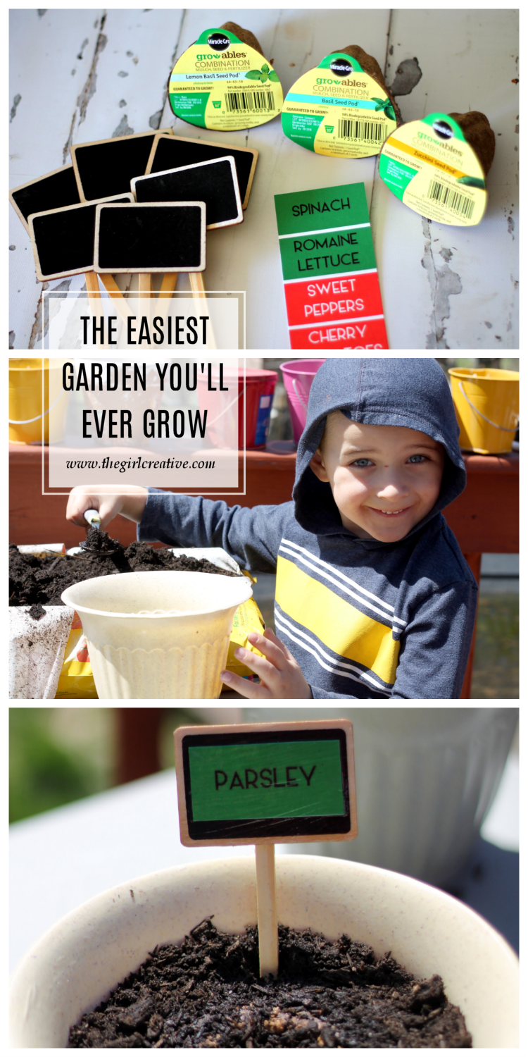 The easiest garden you'll ever grow. I'm no gardener but this was so simple and my son totally enjoyed helping me. It's both of our first gardens and using Miracle-Gro Gro-ables is what made it so simple! (ad)