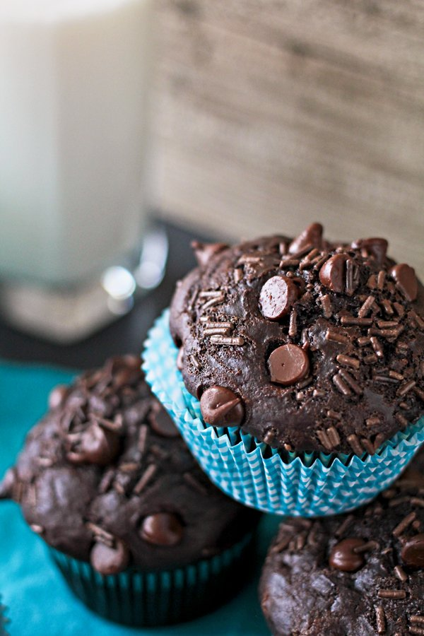 chocolate overload muffins-kleinworth and co