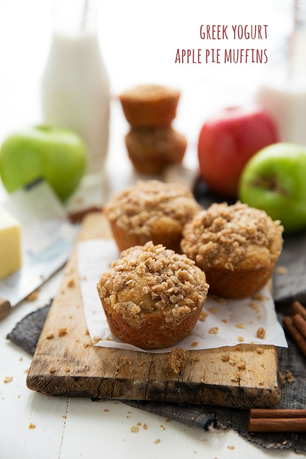 greek yogurt apple pie muffins-chelsea's messy apron