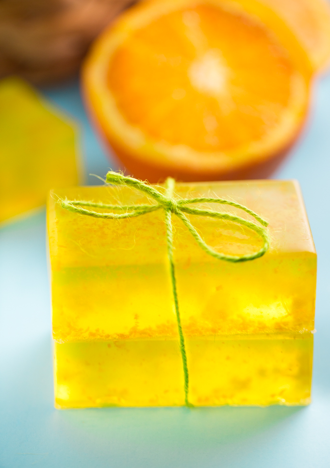 orange zest soap-simply stacie
