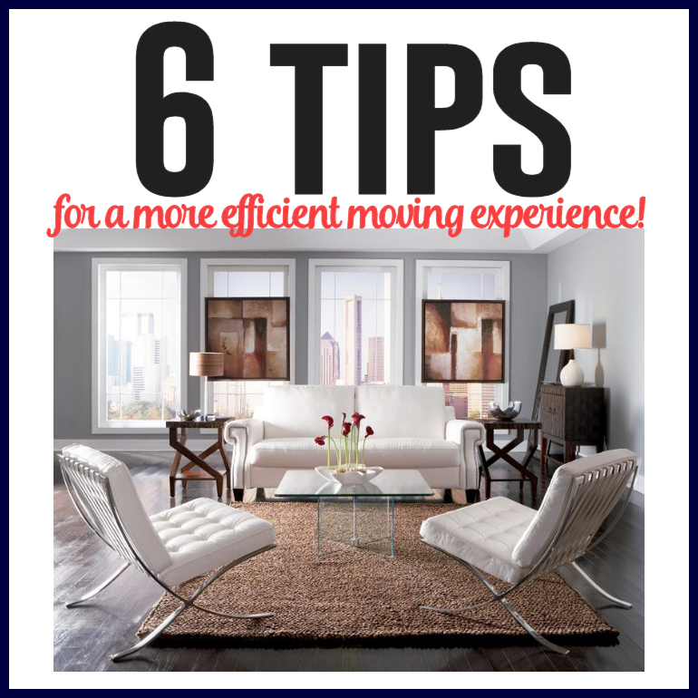 6 tips for a more efficient moving experience