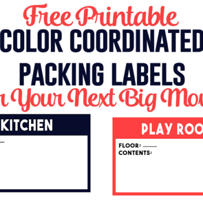 Color Coordinated Packing Labels for Your Next Big Move!