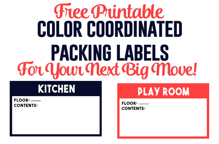 photograph about Printable Moving Labels called Coloration Coordinated Packing Labels for Your Up coming Massive Circulation