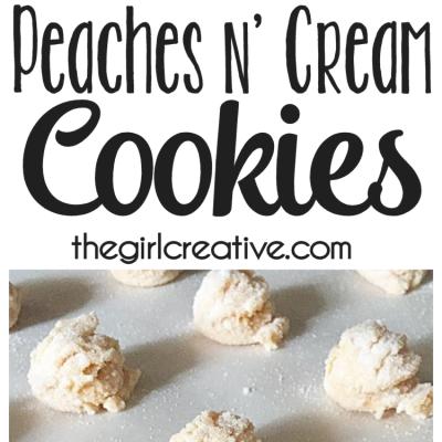 Peaches n' Cream Cookies