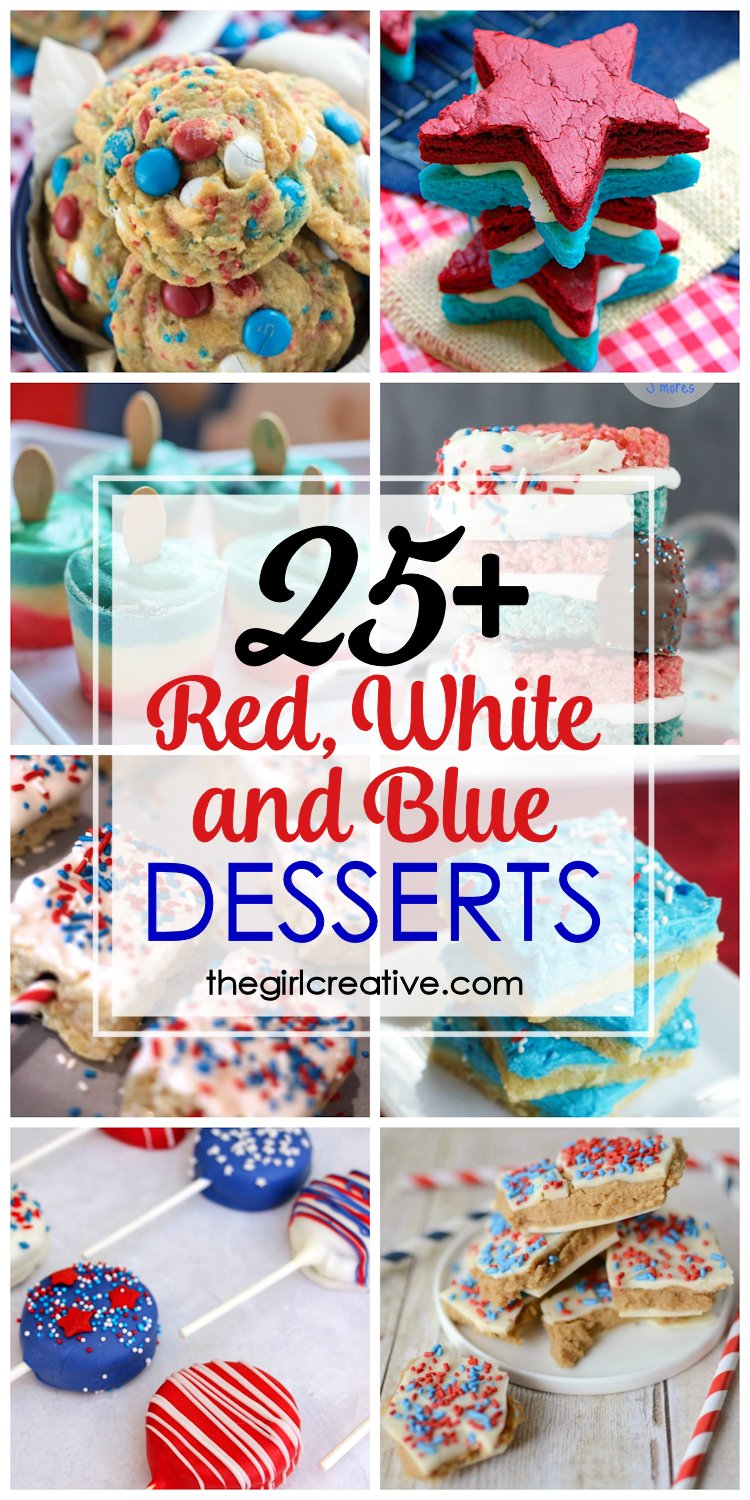 You can't go wrong by bringing one of these red, white and blue desserts to your Memorial Day or 4th of July BBQ. These delicious patriotic desserts are crowd-pleasers..