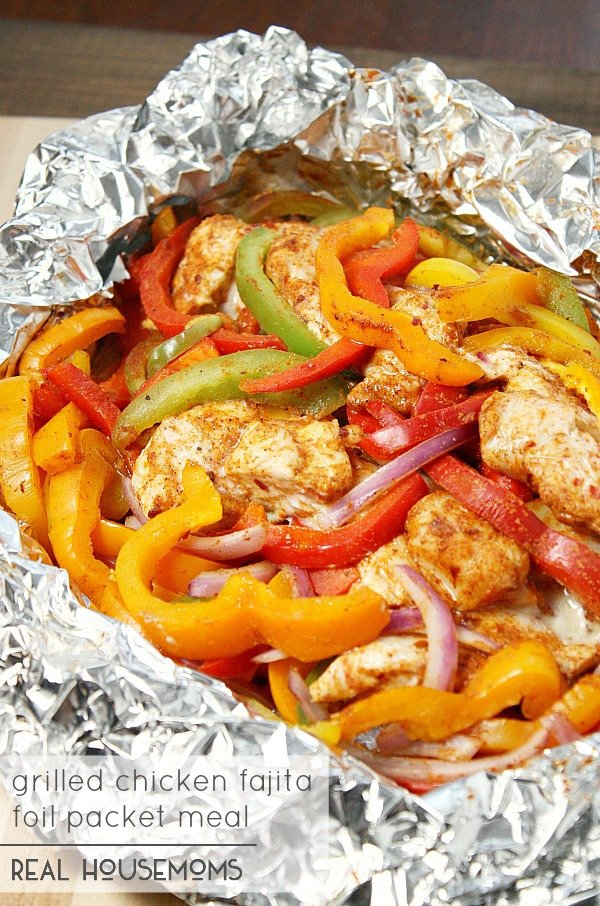 Chicken-Fajita-Foil-Packet-Real Housemoms