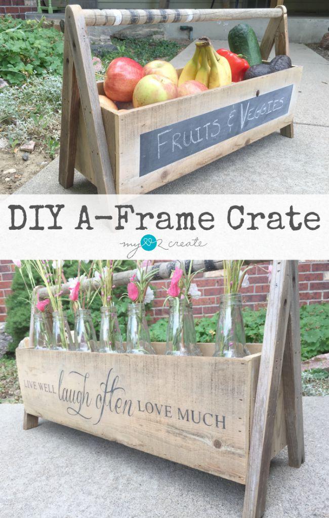 DIY A-Frame Crate, MyLove2Create2