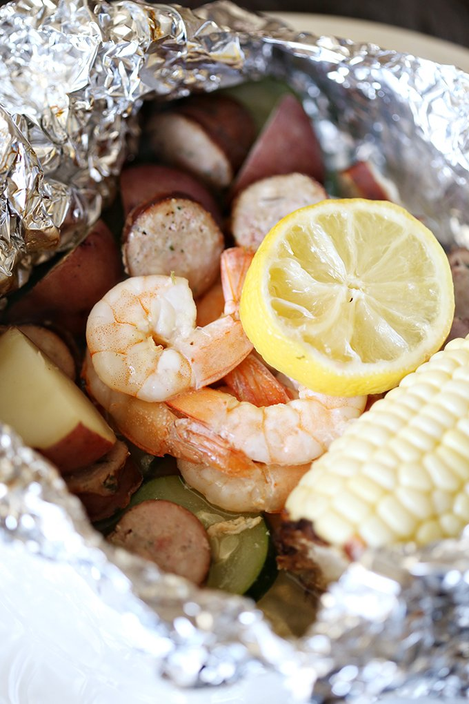 Easy Baked Shrimp Foil Packets-See Vanessa Craft