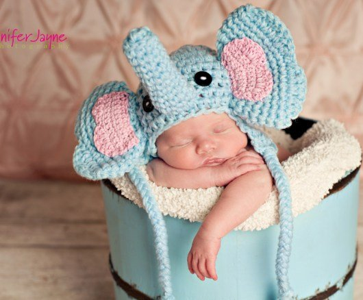 Elephant hat crochet pattern