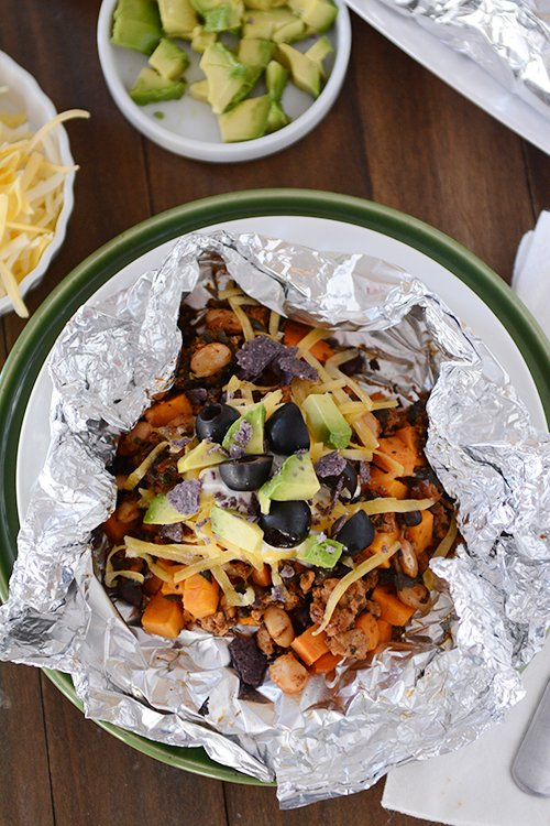 Foil Packet Sweet Potato Tacos-Mel's Kitchen Cafe