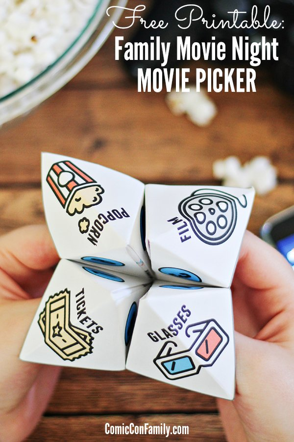 Free-Printable-Family-Movie-Night-Movie-Picker- Comic Con Family