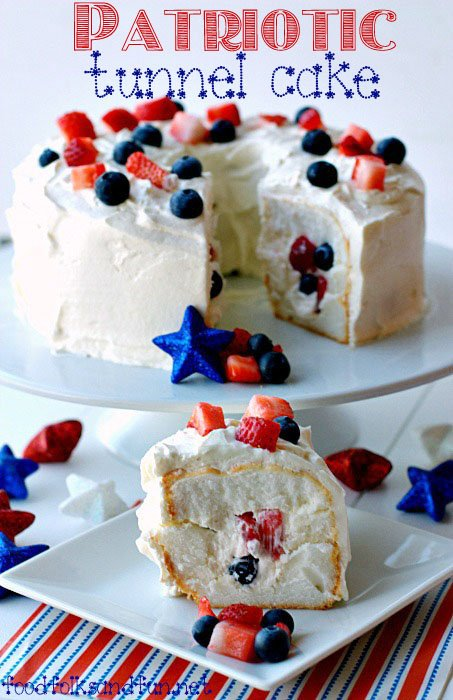 Patriotic Tunnel Cake - Food, Folks and Fun