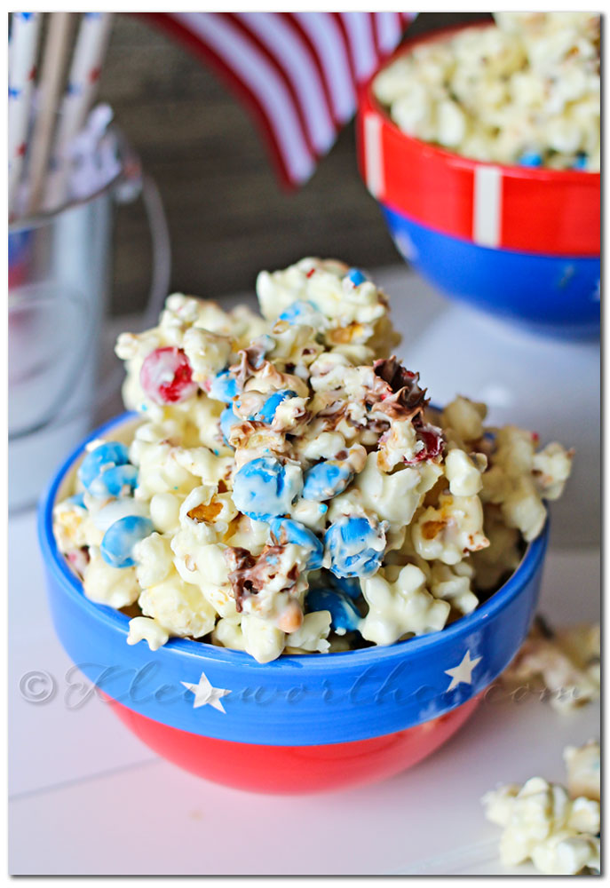 White Chocolate M&M Popcorn - Kleinworth & Co.