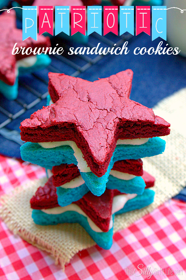 patriotic Brownie sandwich cookies - this silly girl's kitchen