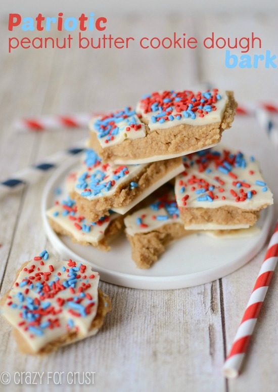 patriotic-pb-cookie-dough-bark-crazy for crust
