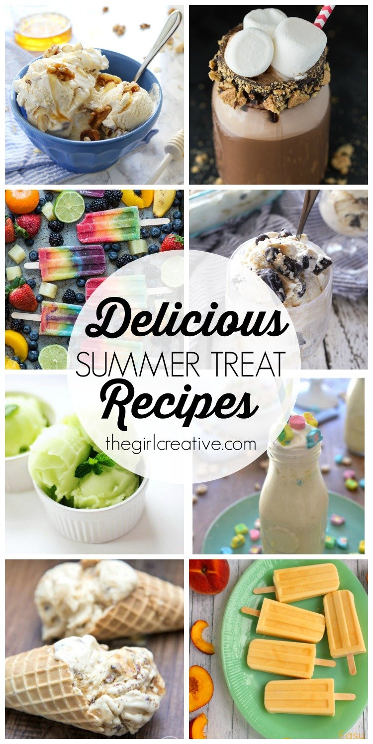 Delicious Summer Treat Recipes to keep your nice and cool on those scorching hot days!These homemade ice cream, ice pop and milkshake recipes will not disappoint.