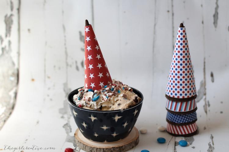Patriotic Ice Cream Cone Wrappers