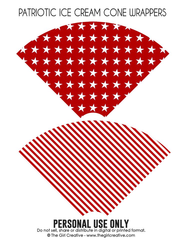Patriotic Ice Cream Cone Wrappers2-blog