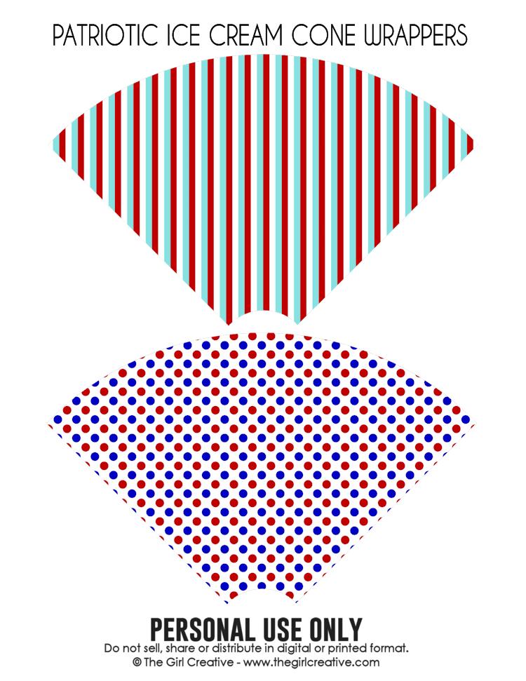 Patriotic Ice Cream Cone Wrappers3-blog