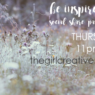 Be Inspired SOCIAL SHARE PARTY – Please read for some AWESOME changes!