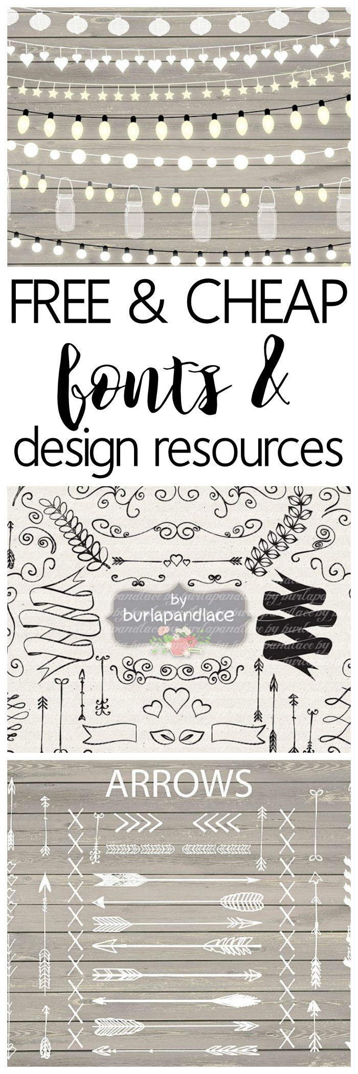 Free and Cheap Fonts and Design Resources - The Girl Creative