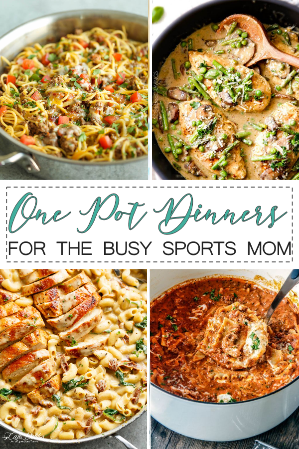 Over 25 One Pot Dinner Recipes for the Busy Sports Mom