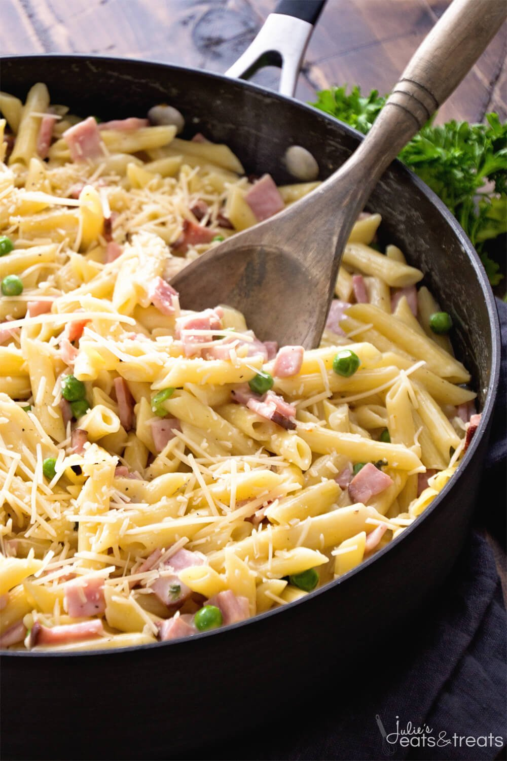 One-Pot-Ham-Penne-Skillet-Main