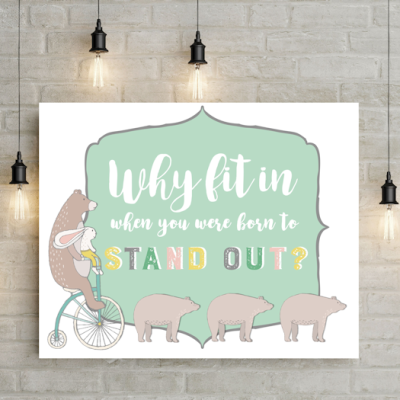 Children's Wall Print – Free Printable