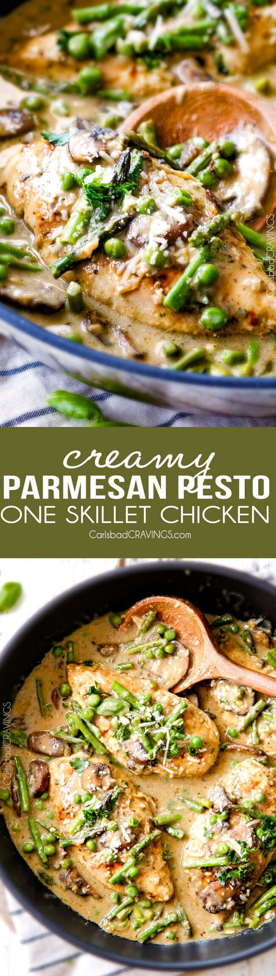 creamy parmesan pesto chicken