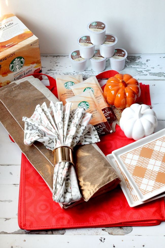Home decor from Target for a simple fall tablescape
