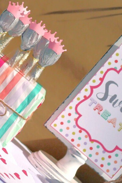 Princess Birthday Party Favors - Lollipop Princess Wands