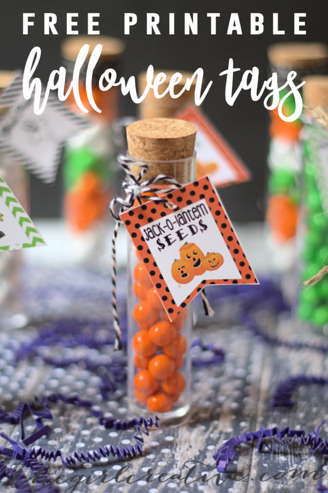 Printable Halloween Tags for Halloween Party Favors | Party Favors for Halloween with Free Printable Tags to Download