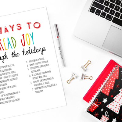 12 Ways to Spread Joy Through the Holidays