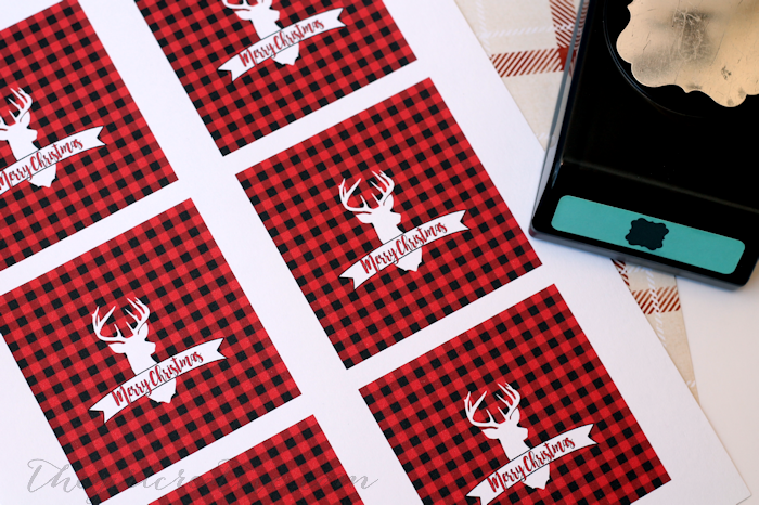 Buffalo Check Christmas Gift Tags | Free Printable