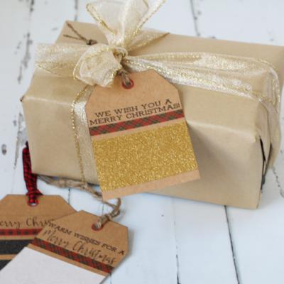 No Mess Glitter Gift Tags